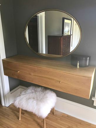 cherry floating dressing table