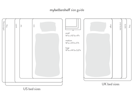 How to choose nightstand when ordering from mybettershelf - sizes
