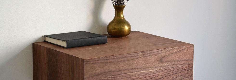 floating nightstand made of american walnut