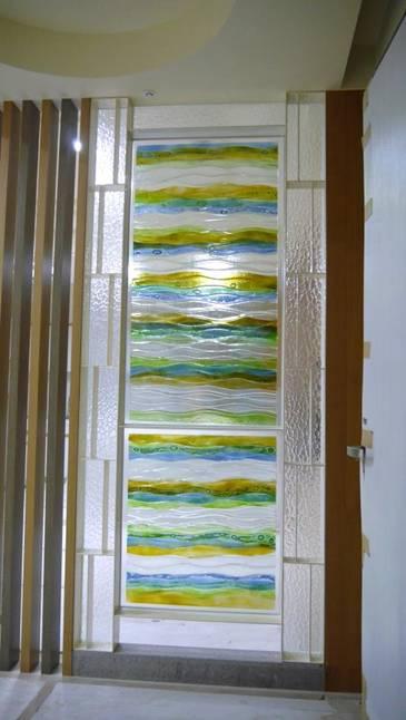 堆疊彩燒玻璃