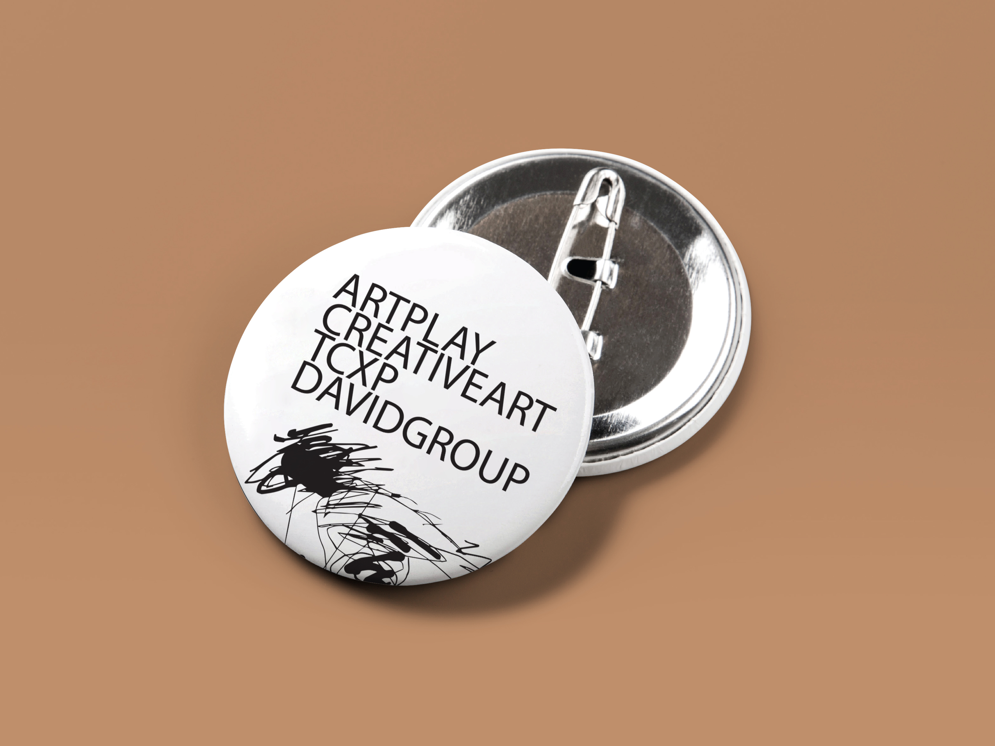 ArtPlay Pin Badge Button
