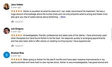 snap shot of google reviews