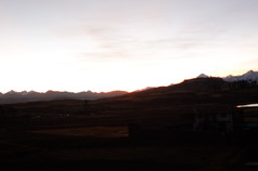 Sunset near Cusco