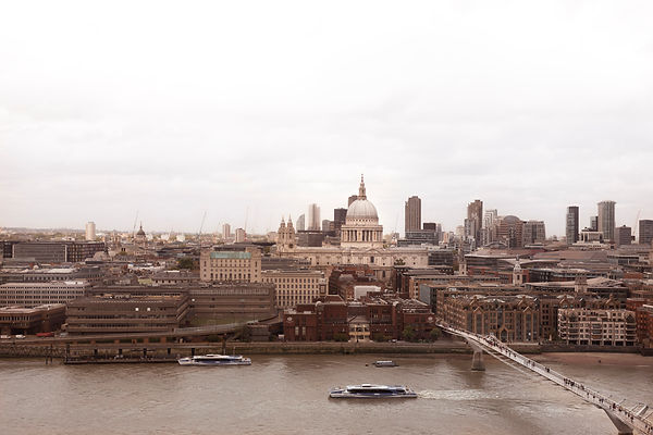 Atmospheric View towards St. Paul's and the City of London