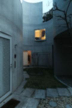 Okurayama Apartments Photographed by Dusk