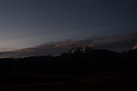 Sunset near Cusco