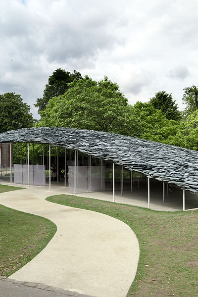 Serpentine Pavilion 2019 Junya Ishigami outside park London