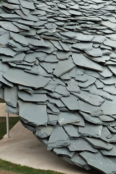Serpentine Pavilion 2019 by Ishigami slate roof detail