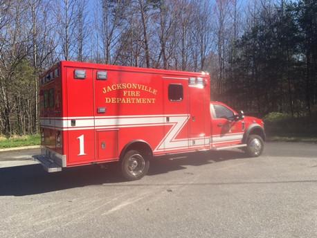 Jacksonville Fire Department receives 2020 F450 McCoy Miller module Type I ambulance remount