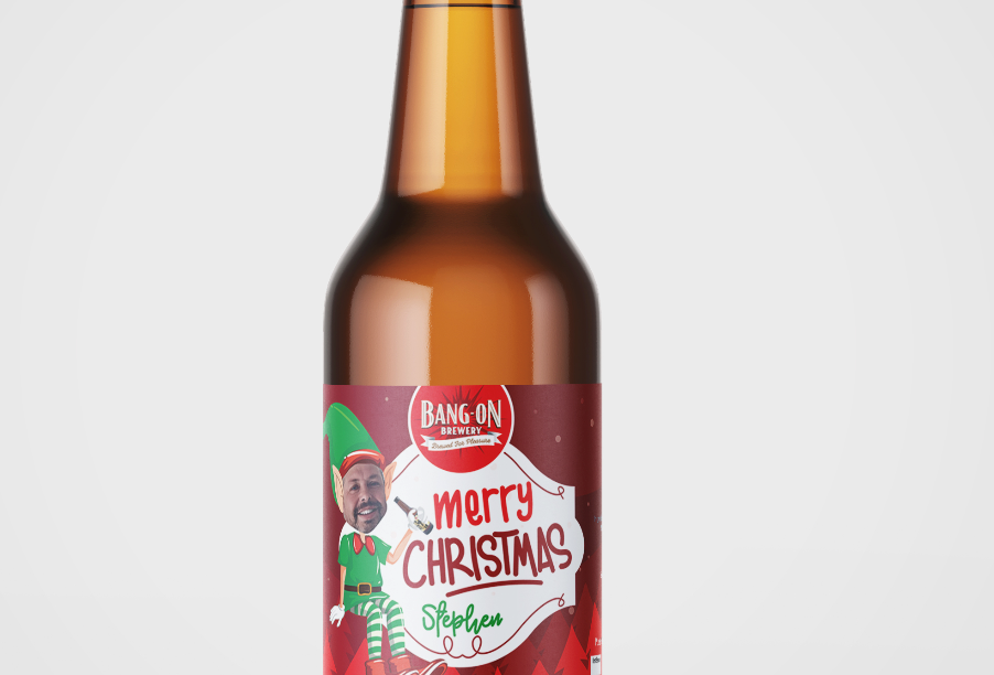 Personalised Christmas Beers