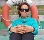 Isole Lofoten - Rita mentre spettail traghetto a Bunes
