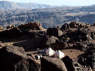 Trekking Marocco   Campo Tendato durante il viaggio a pied in Marocco   Jebel Saghro