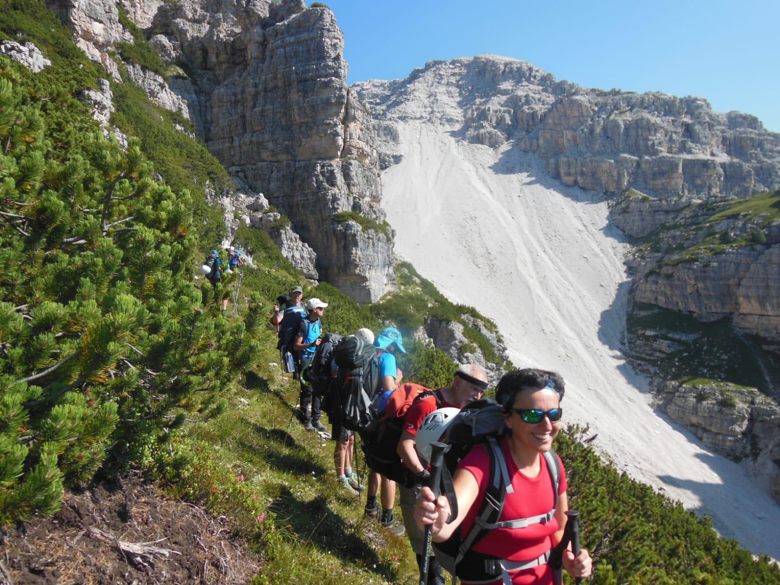 Trekking alta via 3 in Dolomiti