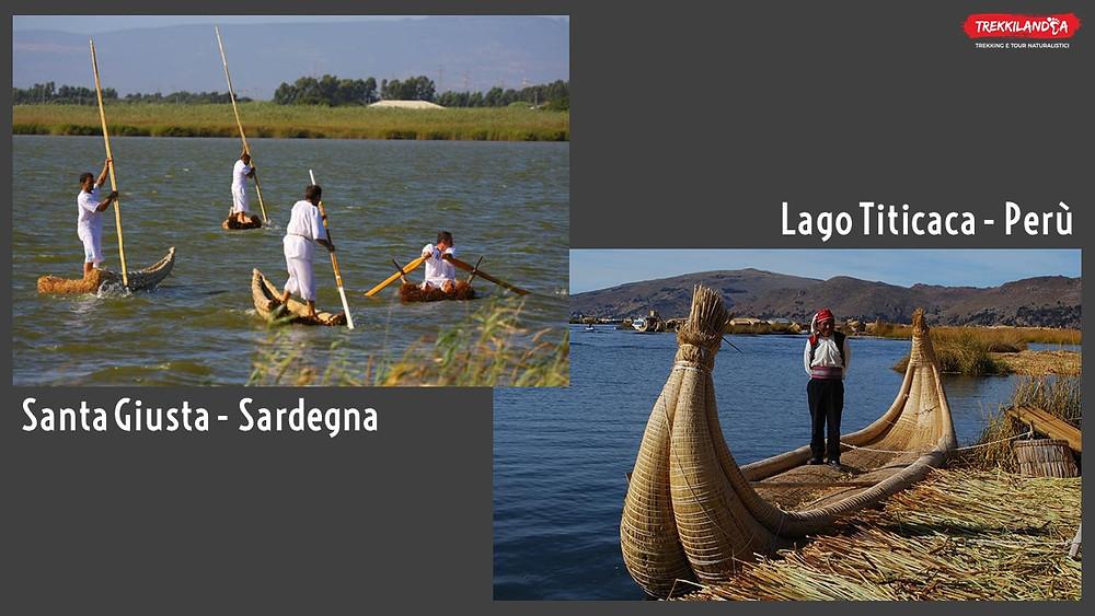 lago-titicaca-perù-stagno-santa-giusta-sardegna-barche-tradizionali