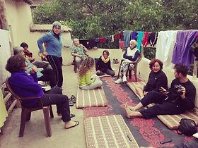 trekking in Marocco sul Jebel Toubkal | Relax pot trekking sulla terrazza di un Gite d'Etape