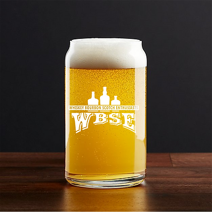 16 oz beer can glass (WBSE)