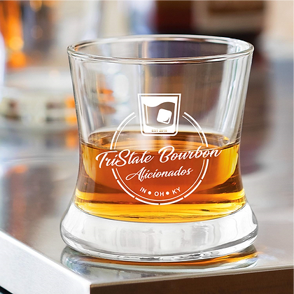 TRI STATE CURVED BOURBON GLASS (8 OZ)