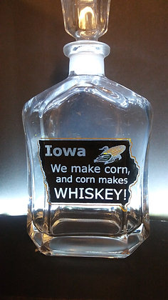 IOWA WHISKEY CHASERS DECANTER