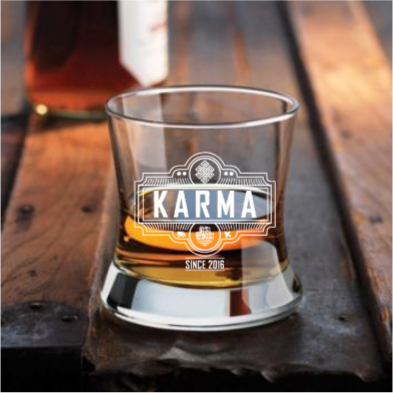 Curved Bourbon Glass (Karma)
