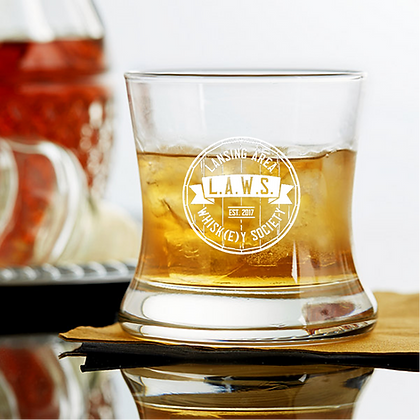 Curved Bourbon Glass 8.5 OZ (LAWS)