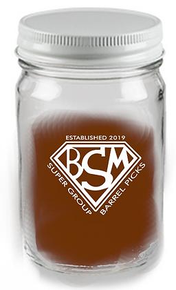 12 oz mason jar glass WITH LID BSM
