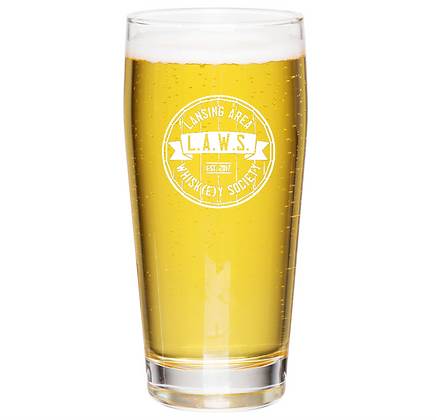 the Willie glass 16 oz (LAWS)