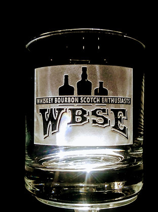 deep carved WBSE rocks glass