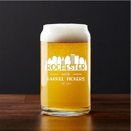 16 oz beer can glass (Rochester)