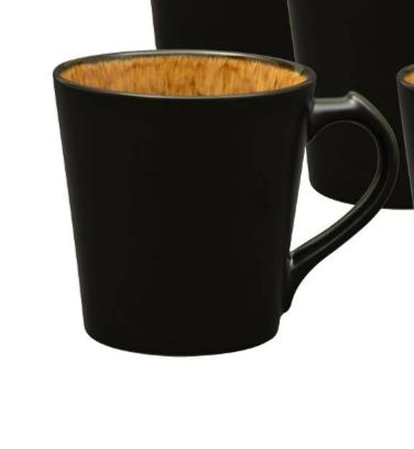 14 ounce deep carved coffee mug