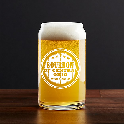 16 oz beer can glass (Bourbon of Central Ohio)