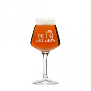 14 oz stemmed beer glass (shit show)