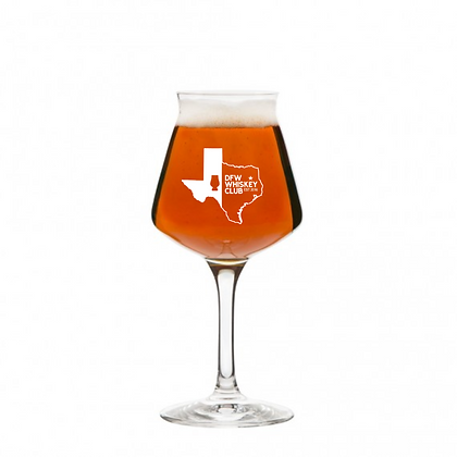 14 OUNCE STEMMED BEER GLASS DFW