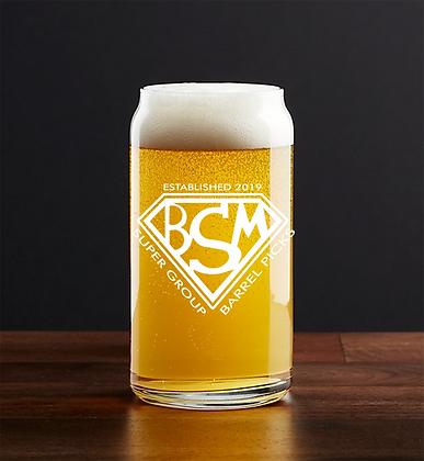16 oz beer can glass (IBSM)