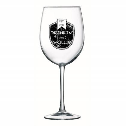 stemmed wine