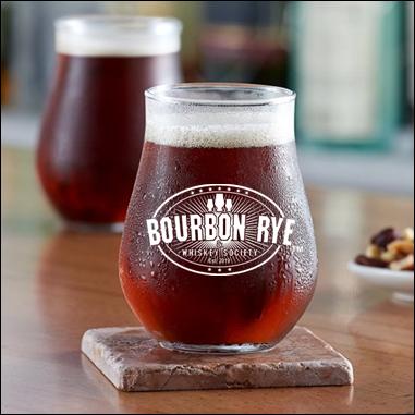 Bourbon Rye 13 ounce stemless tulip