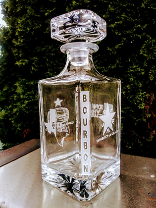 DFW 25 OUNCE DECANTER