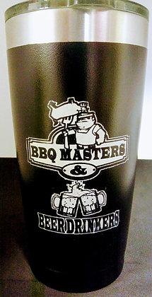 20 ounce BBQ Masters and Beer Drinkers Stainless Tumbler