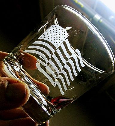 American Flag Glassware
