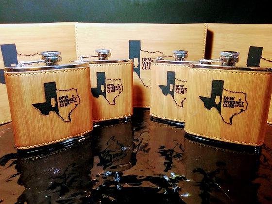 DFW 6 OUNCE FLASK SET WITH BOX