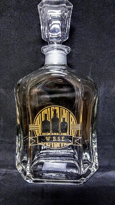 WBSE GOLD SERIES GLASS DECANTER