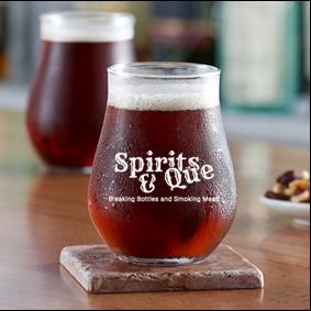 13 ounce  stemless beer or mixer glass (Spirits & que)