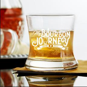 8 oz curved bourbon (Bourbon Journey)