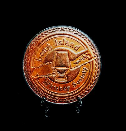 LONG ISLAND LEATHER COASTER