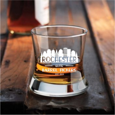 Curved Bourbon Glass 8 oz (Rochester