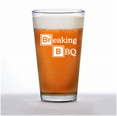 16 ounce pint glass(breaking bbq)