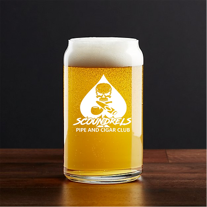 Scoundrels beer can glass