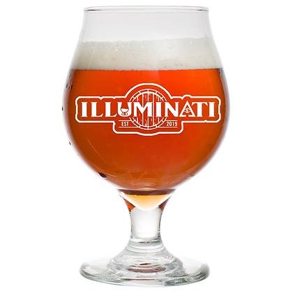 16 oz tulip beer glass (Illuminati)