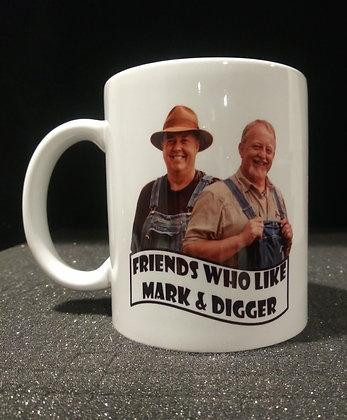 Friends who like Mark and Digger Mason 12 oz mug