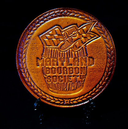 Maryland Leather Coaster