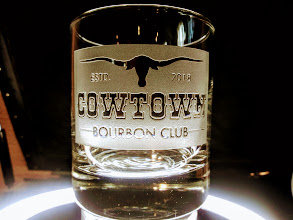Cowtown Deep Carved rock glass 10.25 ounce